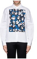 Marni Abstract Floral Print Front Poplin Shirt - Lyst