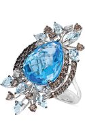 Le Vian Multistone Statement Ring in 14k White Gold 1112 T Tw - Lyst