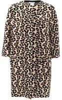 Oscar de la Renta Leopard Print Coat - Lyst