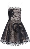 RED Valentino Black Lace Evening Dress - Lyst