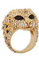 Saint Laurent Lion Head Ring - Lyst