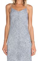 T By Alexander Wang Silk Georgette Slip Dress - Lyst