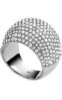 Michael Kors Pavé Crystal Dome Ring - Lyst