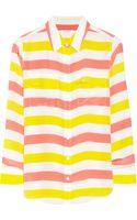 Equipment Slim Signature Striped Washedsilk Shirt - Lyst
