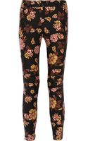 Elizabeth And James Lohmann Floralprint Woolblend Skinny Pants - Lyst