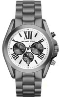 Michael Kors Midsize Gunmetal Stainless Steel Bradshaw Chronograph Watch - Lyst
