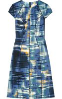 Lela Rose Printed Cottonblend Dress - Lyst