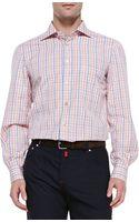Kiton Woven Check Dress Shirt - Lyst