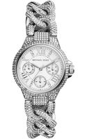 Michael Kors Mini Camille Pave Stainless Steel Chronograph Bracelet Watch - Lyst