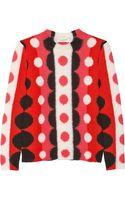 Valentino Circleintarsia Wool Sweater - Lyst
