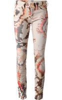 Etoile Isabel Marant Camouflage Printed Jeans - Lyst