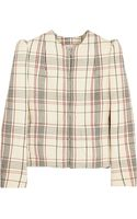 Delpozo Checked Woolcrepe Jacket - Lyst
