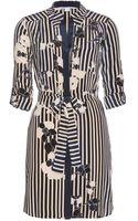 Diane Von Furstenberg Polly Printed Silk Shirt Dress - Lyst
