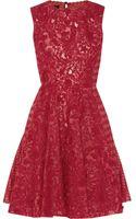 Giambattista Valli Pleated Macramé Dress - Lyst