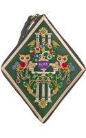 Mary Katrantzou Diamondshaped Embroidered Clutch - Lyst