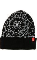 Black Scale The Geometric Beanie - Lyst