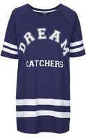 Topshop Womens Dream Catchers Sleep Tee  Navy Blue - Lyst