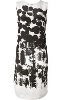 Cedric Charlier Abstract Print Dress - Lyst