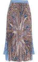 Paul & Joe Printed Pleated Long Skirt - Lyst