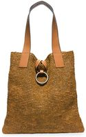 Michael Kors Janey Extra-large Raffia Tote - Lyst