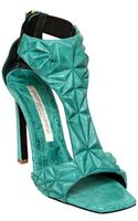 Gianmarco Lorenzi 100mm Sculptured Leather Sandals - Lyst