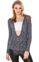 Akira V Neck Sweater - Lyst