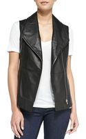 Cusp Foldovercollar Leather Vest - Lyst