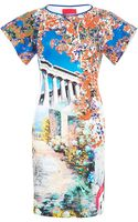 Clover Canyon Garden Of Athena Printed Neoprene Dress - Lyst