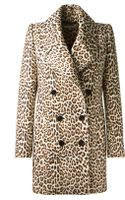 Carven Leopard-print Felted Wool-blend Double-breasted Coat - Lyst