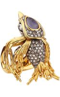 Alexis Bittar Starling Bird Ring with Labradorite and Crystals - Lyst
