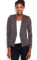 Rachel Rachel Roy Animalprint Knit Blazer - Lyst