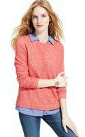 Tommy Hilfiger Layered Knit Sweatshirt - Lyst