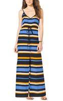 Michael Kors Striped Crepe Maxi Dress - Lyst