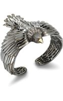 Elizabeth And James White Sapphire Eagle Cuff - Lyst