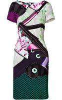 Mary Katrantzou Silk Sneaker Print Dress - Lyst