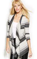 Inc International Concepts Longsleeve Draped Striped Cardigan - Lyst