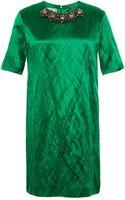 Marni Embellished Washed-satin Dress - Lyst