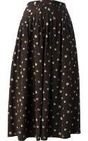 Céline Vintage Pleated Skirt - Lyst