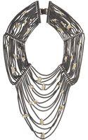 BCBGMAXAZRIA Draped Stone and Chain Necklace - Lyst