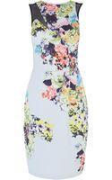 Karen Millen Signature Stretch Floral Dress - Lyst