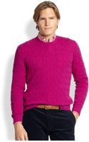 Polo Ralph Lauren Cableknit Cashmere Sweater - Lyst