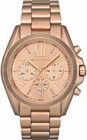 Michael Kors Bradshaw Chronograph Rosegold Plated Steel Watch Rose Gold - Lyst