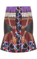 Peter Pilotto Printed Flare Mini Skirt - Lyst