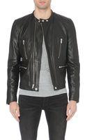 BLK DNM Zip-detail Leather Jacket - Lyst