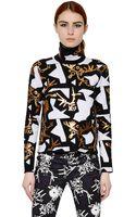 Kenzo Wool Blend Jacquard Sweater - Lyst