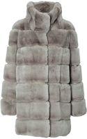 Yves Salomon Rabbit Fur Coat - Lyst