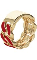 House Of Holland Red Id Plate Ring - Lyst