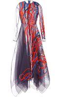 Roksanda Ilincic Italian Embroidered Rivington Dress - Lyst