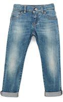 Gucci Faded Denim Blue Jeans - Lyst