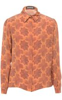 House Of Holland Silk Blouse Parquet - Lyst